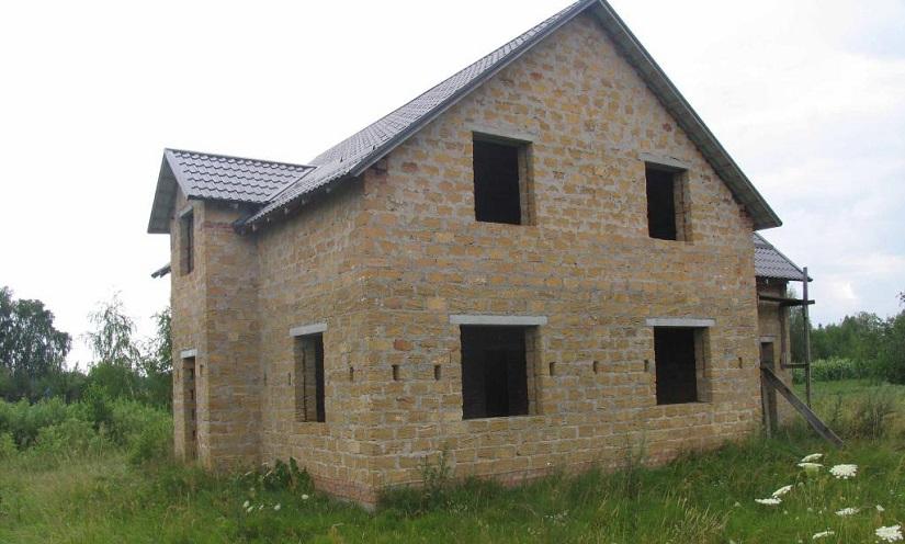 Строительство дома из ракушняка
