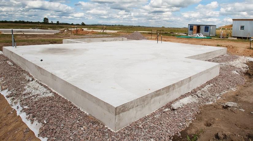 готовый плитный фундамент